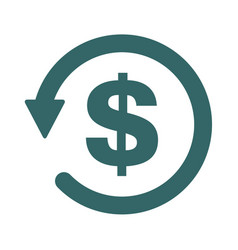 Chargeback icon symbol return money isolated on vector