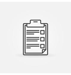 Checklist and clipboard icon vector