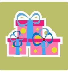 Christmas gift pink vector