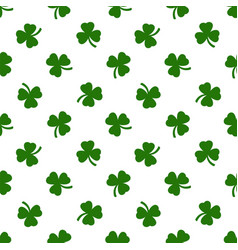 Clover leaves background st patricks day vector