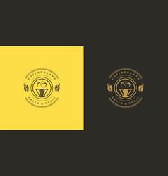 Coffee or tea shop logo template vector