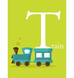 Colourful alphabet card vector