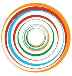 Concentric circle rings suitable as an abstract vector