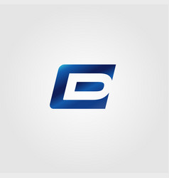 creative letter e and d logo concept vector image