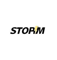 Creative letter storm bolt text symbol logo vector