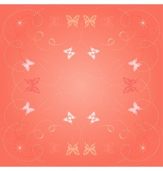 Cute decorative background with butterflies vector