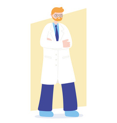 Doctors and nurses senior physician professional vector