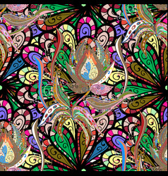 elegant bright and seamless flower pattern design vector image