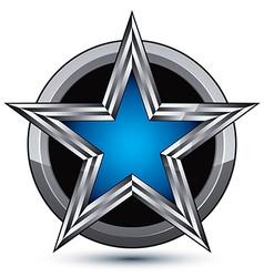 Festive silvery rounded geometric symbol stylized vector