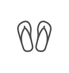 Flip flop line icon vector