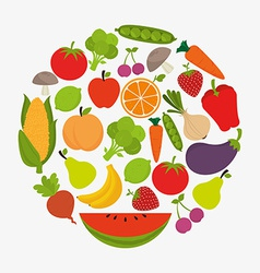 Food design vector image vector image