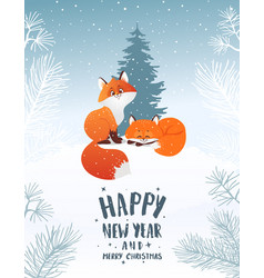 foxs winter holiday vector image