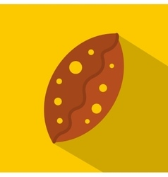 Fresh baked pastry icon flat style vector