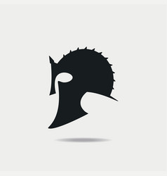 Gladiator helmet icon vector