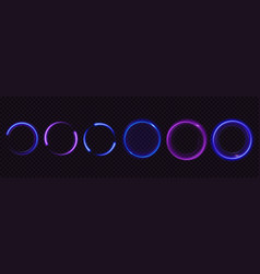 Glow circles with sparkles magic light effect vector