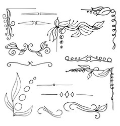 graphic elements for design hand drawn vector image