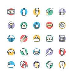 Hair Salon Cool Icons 4 vector