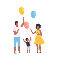 happy african american family with colorful vector image