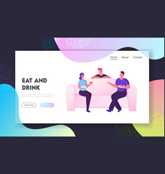 home party meeting friends website landing page vector image