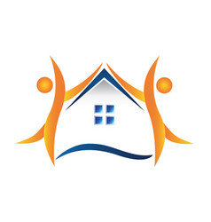 home people real estate house icon vector image
