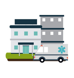 hospital building scenery vector image