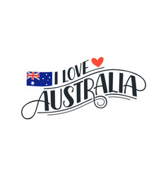 i love australia poster vector image