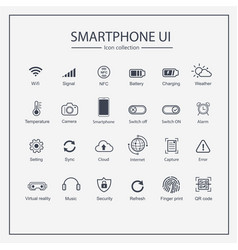 industry 40 and smart user interface icon set vector image
