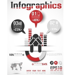 INFOGRAPHICS MODERN BUSINESS ICON MAN STYLE 4 vector image