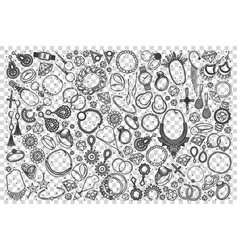 jewelry doodle set vector image