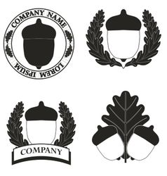 logos with the image of an acorn vector image