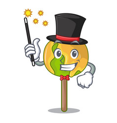 Magician candy apple mascot cartoon vector