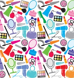 make up collection pattern vector image