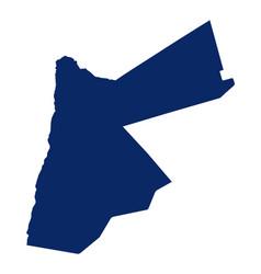 Map jordan in blue colour vector