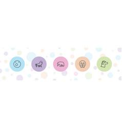 Mascot icons vector