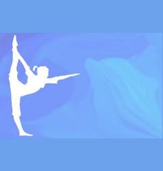 Ocean yoga scene with dolphin vector