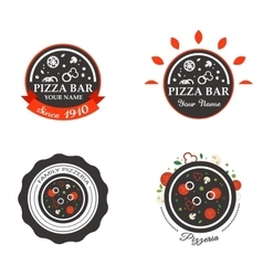 Pizzeria Restaurant Shop Design Element in Vintage vector image