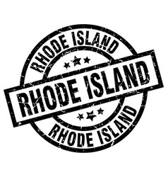rhode island black round grunge stamp vector image