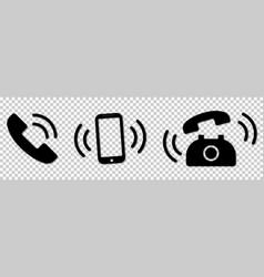 Ringing phone icons set smartphone phone vector