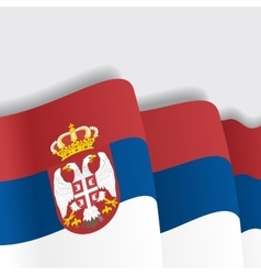 Serbian waving flag vector