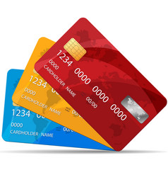 set of premium credit cards vector image