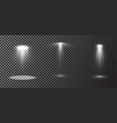 set scene spotlights isolated on vector image