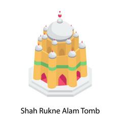 Shah rukne alam tomb vector