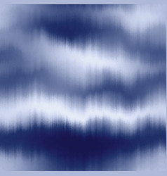 Soft blurry ikat gradient ombre seamless indigo vector