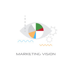 successful business idea marketing vision concept vector image