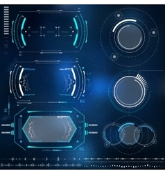 Technological HUD elements futuristic interface vector
