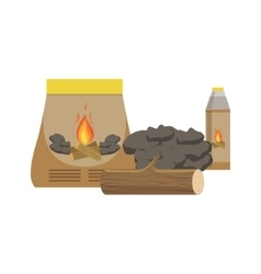Things Needed To Make A Bonfire Set vector