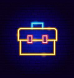 Toolbox neon sign vector
