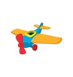 Toy plane cartoon icon vector image