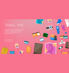 travel time horizontal advertising banner on vector image