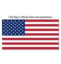 usa flag official national state sign vector image